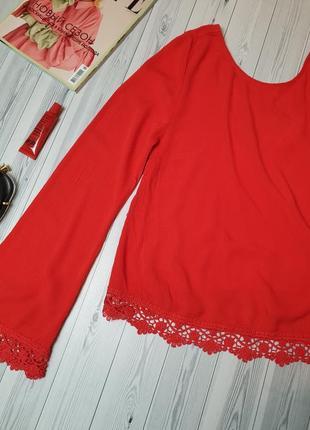 Жатка алая красная блуза кружево2
