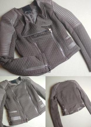 Актуальная стильная куртка косуха, amisu, p. 34