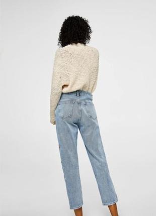 Новые джинсы с вышивкой mango, размер 12 (см. замеры)4