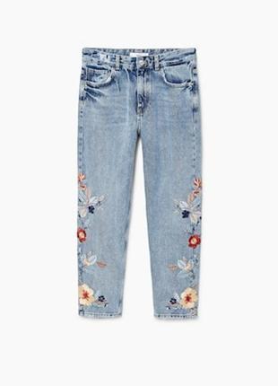 Новые джинсы с вышивкой mango, размер 12 (см. замеры)5