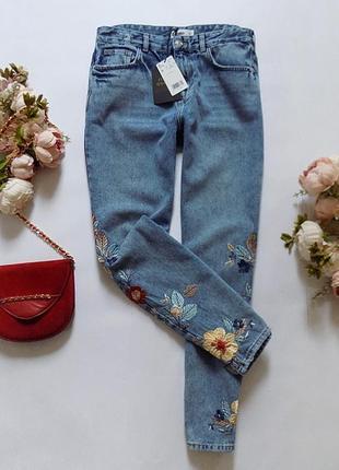 Новые джинсы с вышивкой mango, размер 12 (см. замеры)6