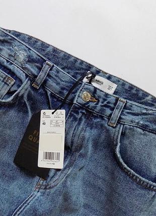 Новые джинсы с вышивкой mango, размер 12 (см. замеры)8