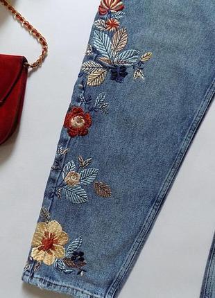 Новые джинсы с вышивкой mango, размер 12 (см. замеры)10