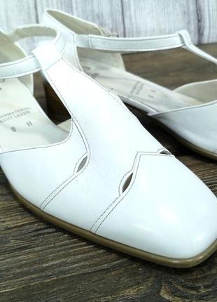 Босоножки стильные jenny by ara, белые, кожаные7