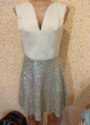 Шикарное платье 48 размер1