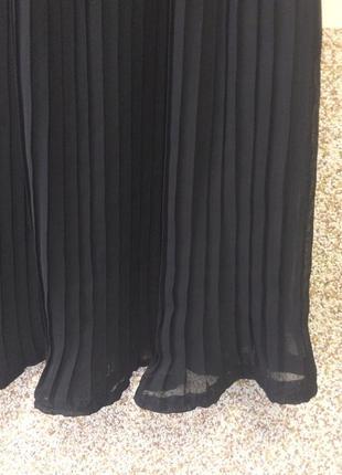 Шикарная    шифоновая        плиссированная юбка   пояс на резинке  р.422