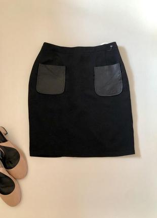 Юбка с накладными карманами1
