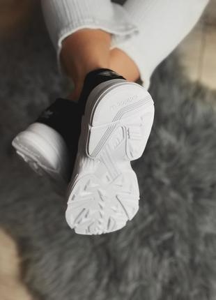 Шикарные женские кроссовки adidas falcon black/ white 😍 (весна/ лето/ осень)8