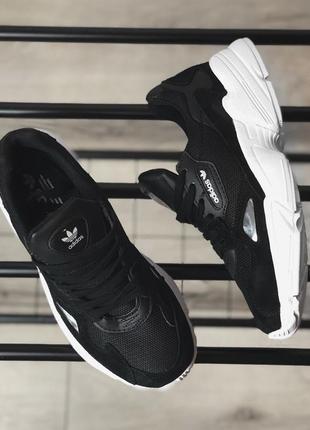Шикарные женские кроссовки adidas falcon black/ white 😍 (весна/ лето/ осень)5