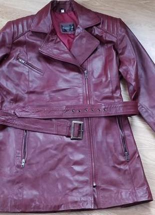 Женская кожаная куртка3
