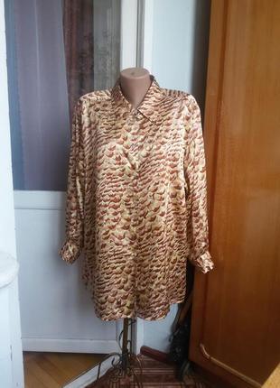 Шелковая рубашка peter hahn carat collection большой размер 100% натуральный шелк1