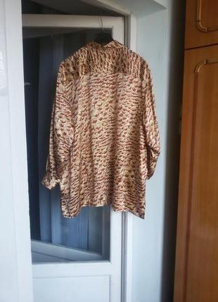 Шелковая рубашка peter hahn carat collection большой размер 100% натуральный шелк3