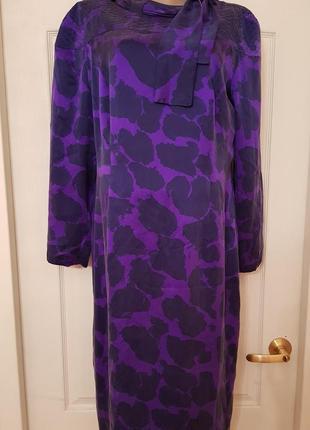 Германия! роскошное винтажное шелковое дизайнерское платье louis feraud1