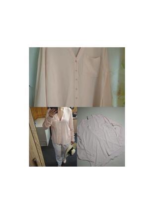 Стильная блуза в пудровом цвете, вискоза, chicoree, p. l-xl