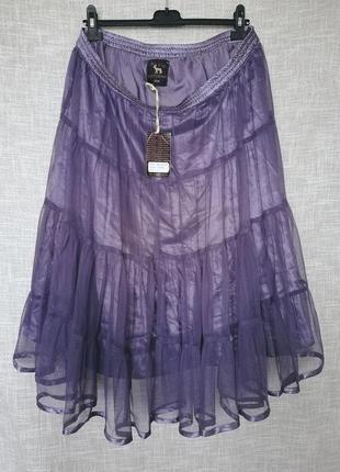 Супер крутая юбка из фатина. цвет - винтаж.
