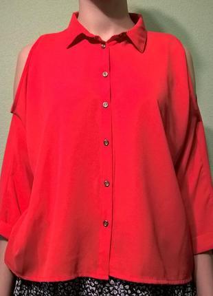Ярко красная блузка1