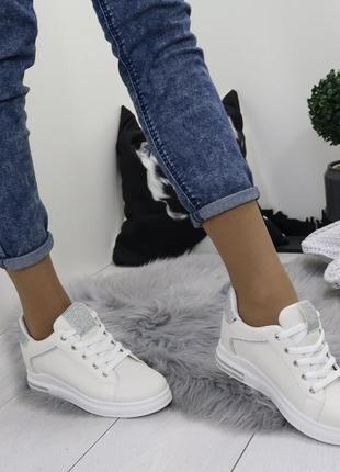 Новые шикарные женские бежевые кроссовки6