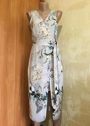 Изумительное платье в принт с эффектом запаха!!1