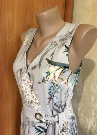 Изумительное платье в принт с эффектом запаха!!3