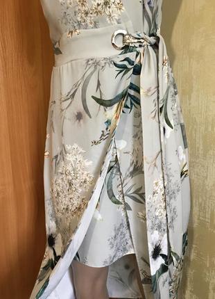 Изумительное платье в принт с эффектом запаха!!2