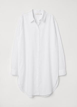 Рубашка из смесового льна h&m 32/xxs 34/xs1