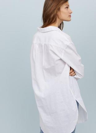 Рубашка из смесового льна h&m 32/xxs 34/xs4