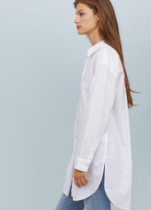 Рубашка из смесового льна h&m 32/xxs 34/xs3