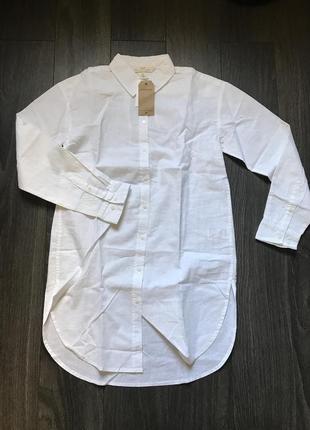 Рубашка из смесового льна h&m 32/xxs 34/xs7