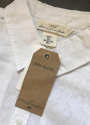 Рубашка из смесового льна h&m 32/xxs 34/xs6