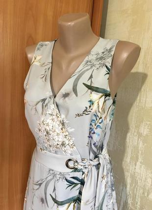 Изумительное платье в принт с эффектом запаха!!7