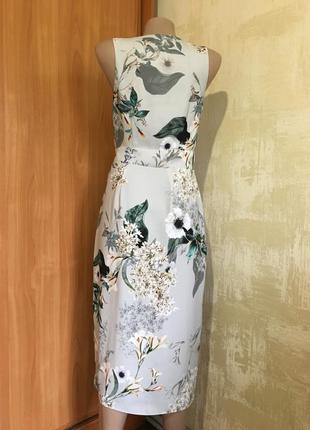 Изумительное платье в принт с эффектом запаха!!6