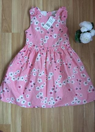 Новое фирменное нарядное платье nut mag малышке 5-6 лет