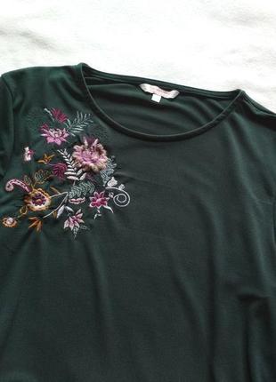 Шикарна блуза з вишивкою воланами та оксамитовими вставками/блузка/топ3
