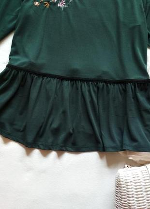 Шикарна блуза з вишивкою воланами та оксамитовими вставками/блузка/топ5