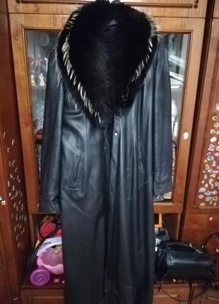 Пальто кожаное1