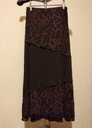 Длинная юбка, звериный принт1