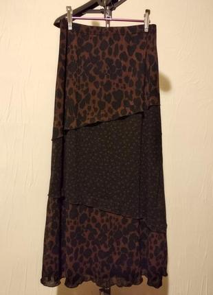 Длинная юбка, звериный принт2