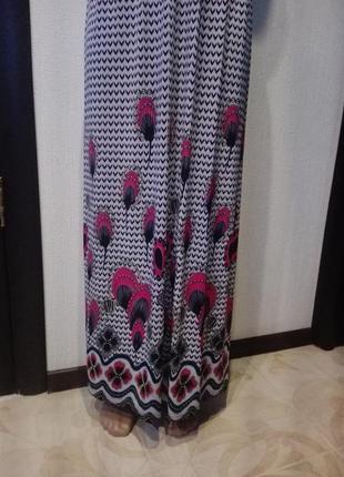 Супермодное летящее платье-сарафан макси натуральный шелк3