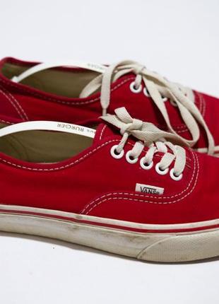 Кеды vans красные1