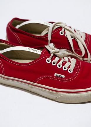 Кеды vans красные6