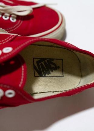 Кеды vans красные7