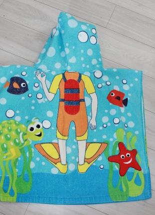 Полотенце пончо для пляжа хлопок3 фото