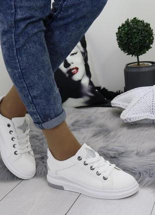Новые шикарные женские белые кроссовки4