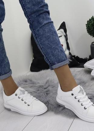 Новые шикарные женские белые кроссовки8