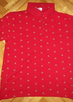 Яркая австрийская футболка поло от fashionalm! батал! p.-48/501