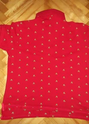Яркая австрийская футболка поло от fashionalm! батал! p.-48/502