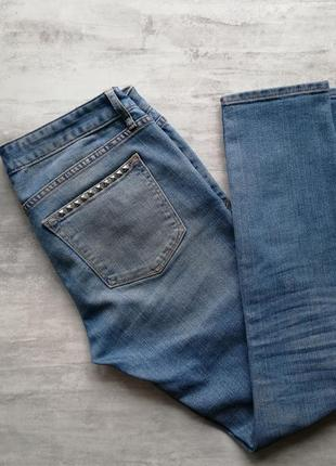 Gap светло синие голубые джинсы с заклёпками1