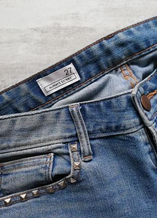 Gap светло синие голубые джинсы с заклёпками9