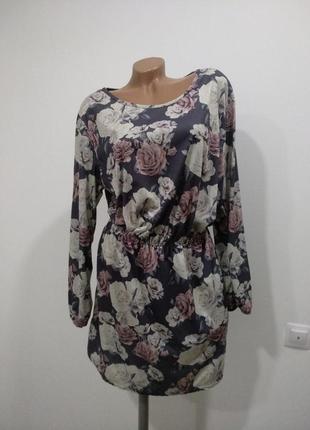 Нежное платье с цветочным принтом painbow1
