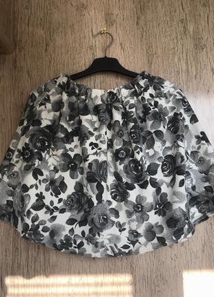 Новая юбка солнце в цветы, юбка в цветочный принт , белая юбка , чёрная юбка1